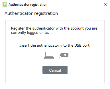 Connect the authenticator