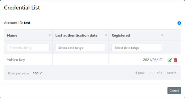 Register an authenticator to your account
