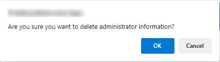 Delete Administrator